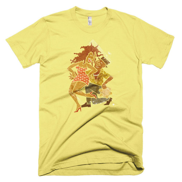 Samba Couple men's t-shirt lemon yellow