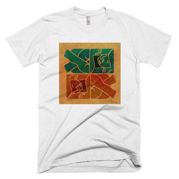 Symmetry on Sand men's t-shirt white