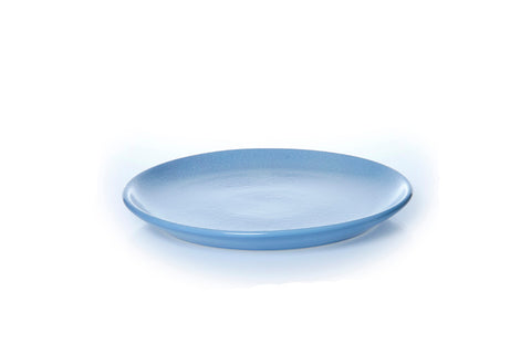 Classic Coupe Dinner Plate 27cm - Glazed in Rad Blue