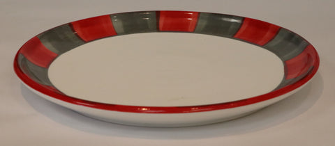 Coupe Lunch Plate – Canterbury Red-Grey
