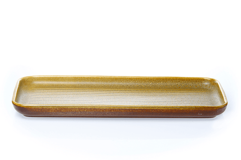 Oblong Ribbed plate 32cm - Tussock