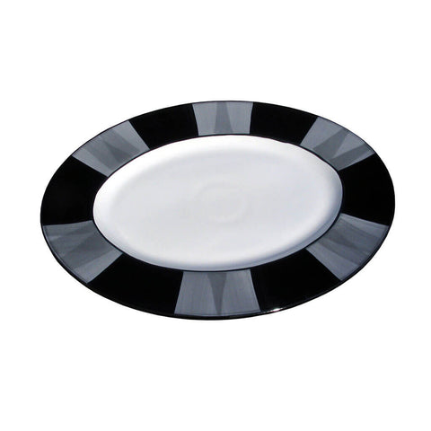 Oval Platter – Canterbury Black