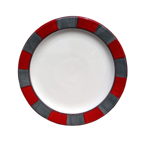 Side Plate – Canterbury Red-Grey