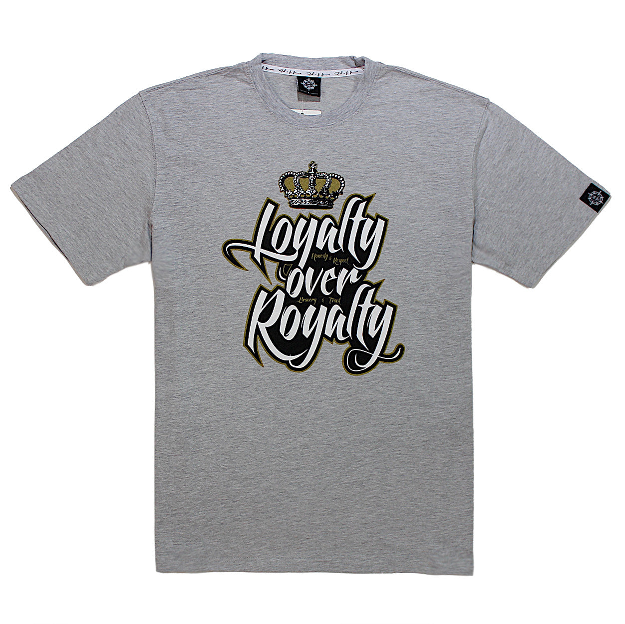 Royalty Over Loyalty Coloring Page: Rich NFN Famous Loyalty Over Royalty Tee In Gray