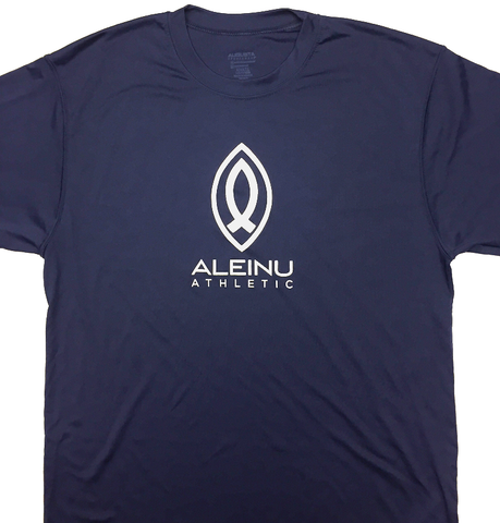 Blue Aleinu Athletic dry fit performance t-shirt - Aleinu Athletic