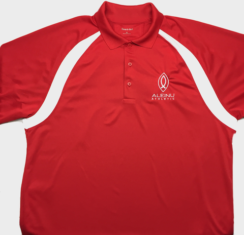 Red Aleinu Athletic Sport-Tek Dry Zone Polo Sport Shirt - Aleinu Athletic