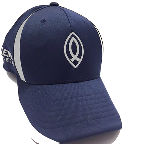 Navy Blue Aleinu sport-tek flexfit performance colorblock cap - Aleinu Athletic
