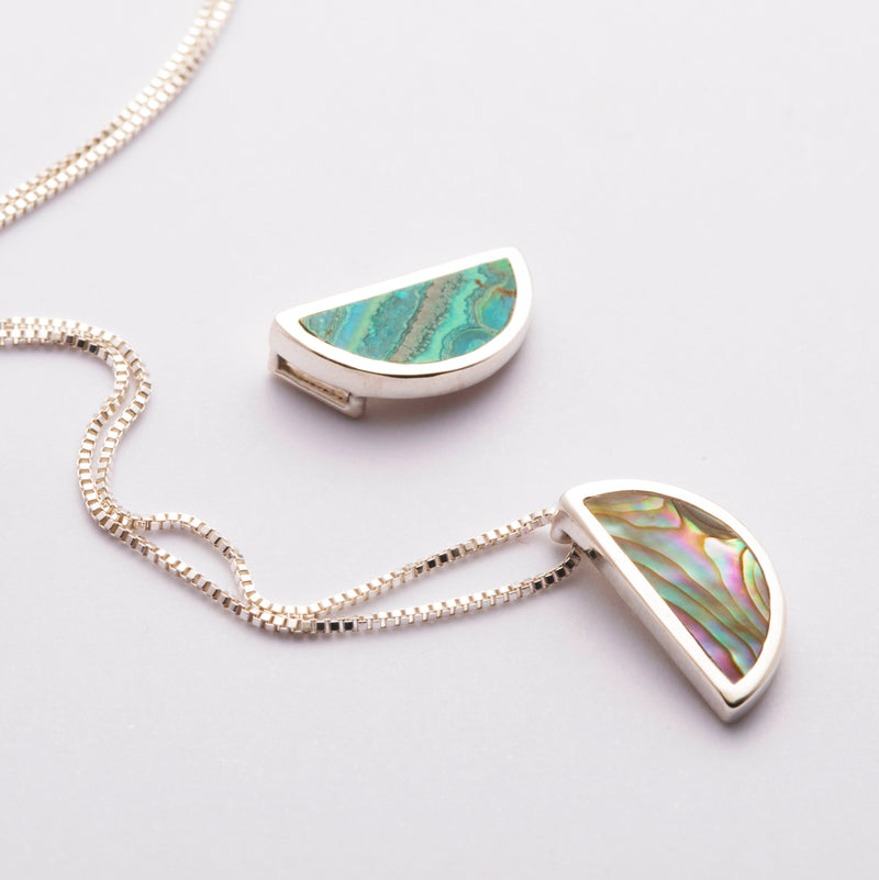 mini gem pendant / abalone