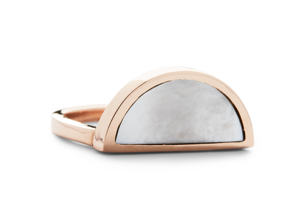 one half ring / rose gold + mother of pearl - casual seance