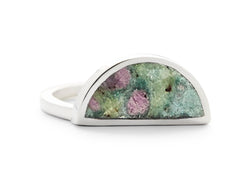 one half ring / ruby in fuchsite