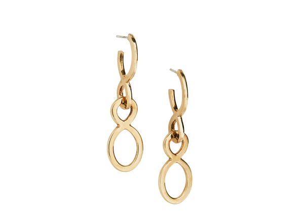 lucky number 16 earrings / yellow gold - casual seance