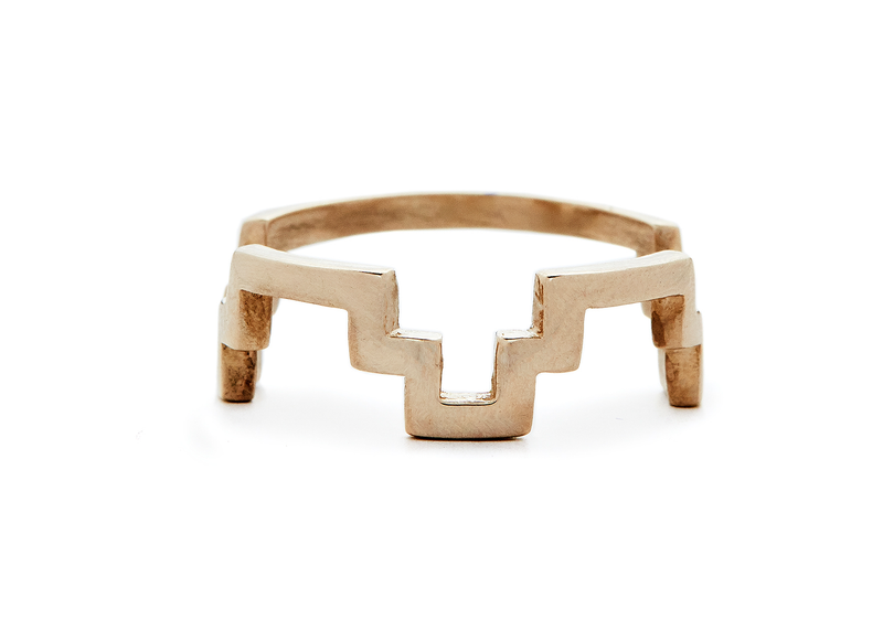 stacking chakana ring / gold - casual seance