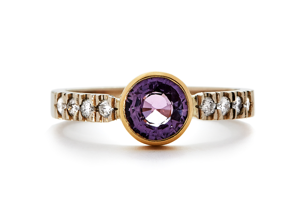 casual seance - pink sapphire alternative engagement ring