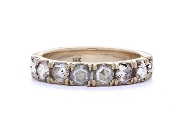 jaye wide / half eternity band / white gold pave rosecut - casual seance