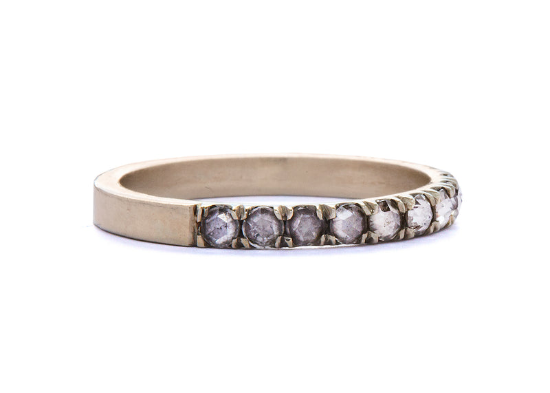 jaye / half eternity band / white gold pave rosecut - casual seance