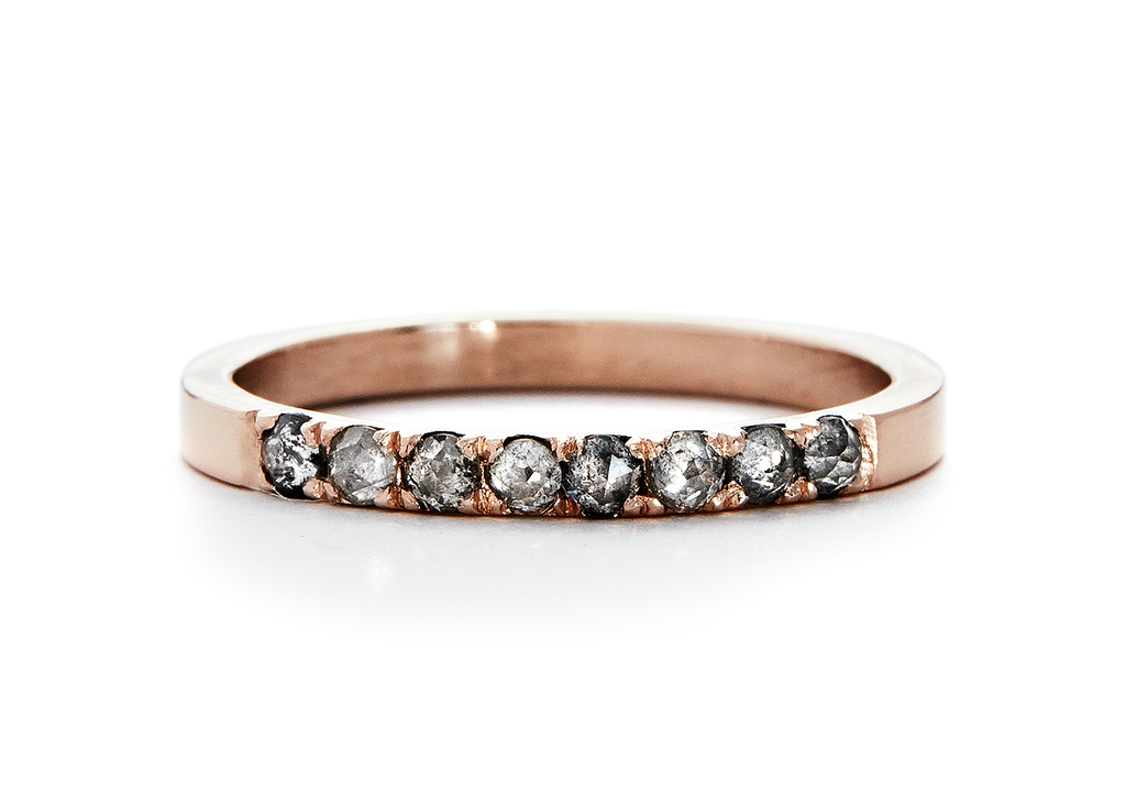jaye narrow / quarter eternity band / pave rosecut - casual seance
