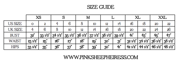 Pink Sheep Heiress Size Guide