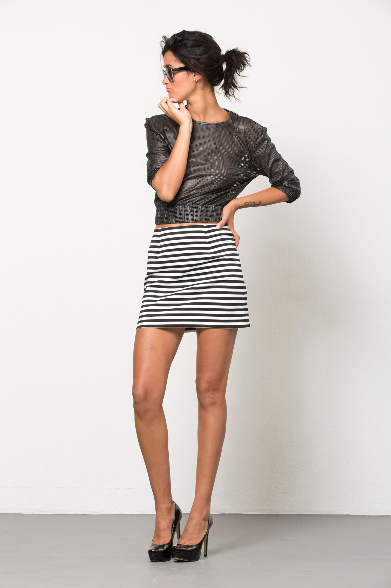 striped mini skirt by Pink Sheep Heiress