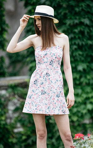 skull print strapless dress by Pink Sheep Heiress