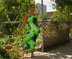Load image into Gallery viewer, Green Tie Dye Bandeau Dress
