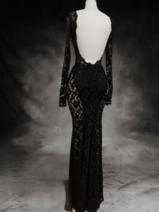 Black crystals and lace gowns