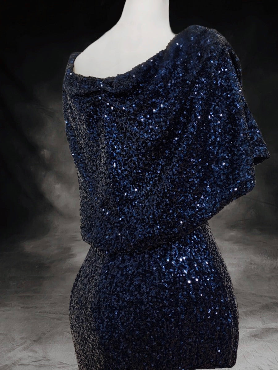 Marylin blue sequins gowns