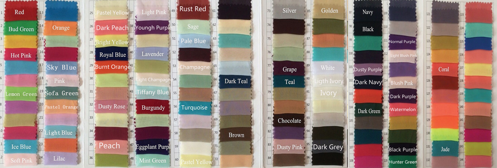 Color Chart Chiffon Colour Chart