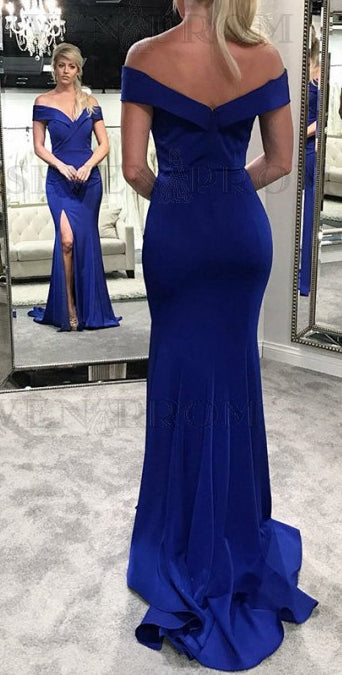 7a64042a4f8f Off the Shoulder Long Mermaid Prom Dress ,2019 Fashion Formal Dresses –  Promtailor