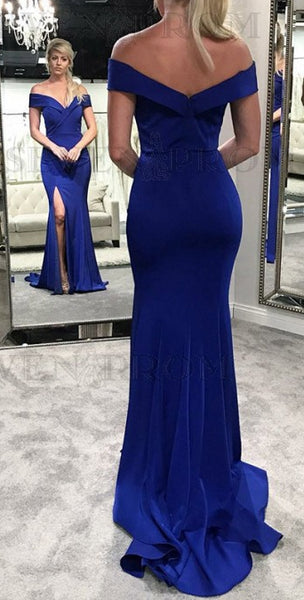 Off the Shoulder Long Mermaid Prom Dress ,2019 Fashion Formal Dresses ,Modest Pageant Dress LP230