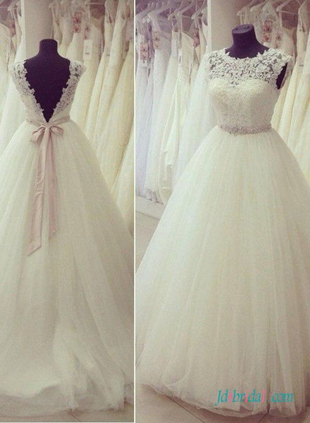 Handmade Bridal Dress,Custom Made Wedding Dress in High Quality WB014