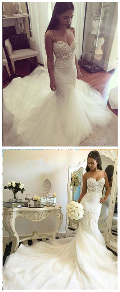 Handmade Bridal Dress,Custom Made Beach Wedding Dress in High Quality WB025
