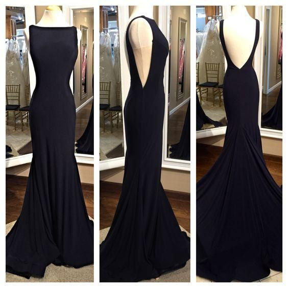Black Mermaid Prom Dress  I198