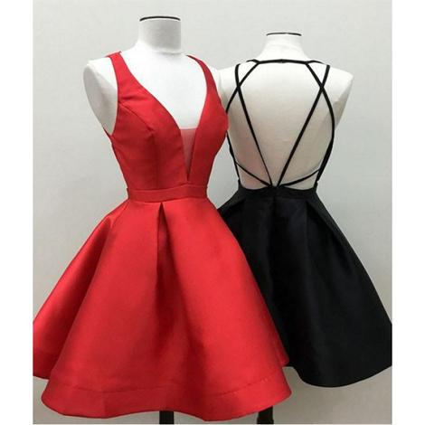 Custom Made Satin Homecoming Dress , Short Mini Prom Dress ,Fashion School Dance Dress,Sweet 16 Dress SW191