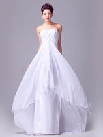 Sweetheart A-line Chiffon Beach Wedding Dress