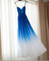 Simple Chiffon Long Prom Dress , Long Winter Formal Dress LP002