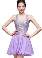 Short Prom dress ,Beaded prom dress