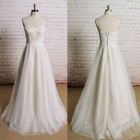 Handmade Bridal Dress,Custom Made Wedding Dress in High Quality WB016
