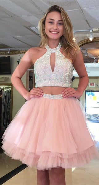 Short Tulle Homecoming Dress With Beading Graduation Dresses Dance Dress Sweet 16 Dress SW109