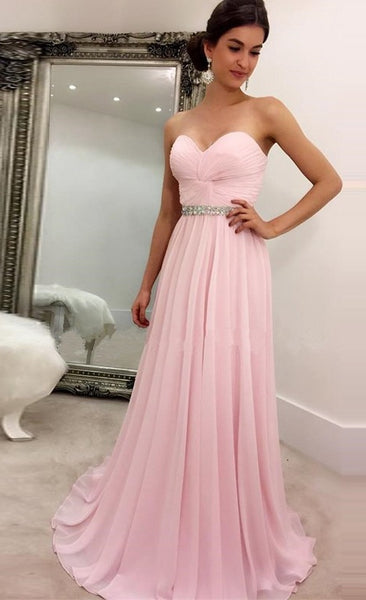 Strapless A-line Long Prom Dress Fashion Winter Formal Dress Popular Wedding Party Dress  LP326