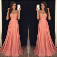 A-line Top Beaded Fashion Floor-Length Prom Dress,Long Formal Dress LP073