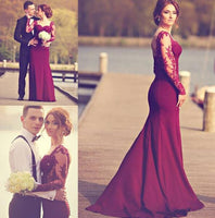 Sweetheart Cocktail Dress ,2016 Floor Length Prom dress with long sleeves
