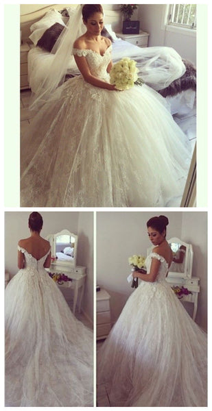 Handmade Bridal Dress,Custom Made Wedding Dress in High Quality WB007