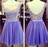 2016 Prom dress ,Short Evening dress,Lace homecoming dress