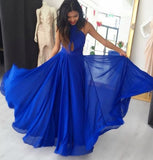 A-line Long Prom Dress ,Simple Formal Dresses ,Modest Wedding Party Dress LP201
