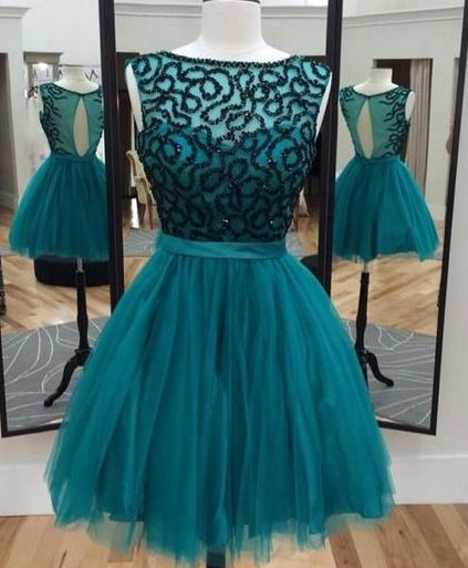 Short Beaded Homecoming Dress Graduation Dresses Dance Dress Sweet 16 Dress SW131