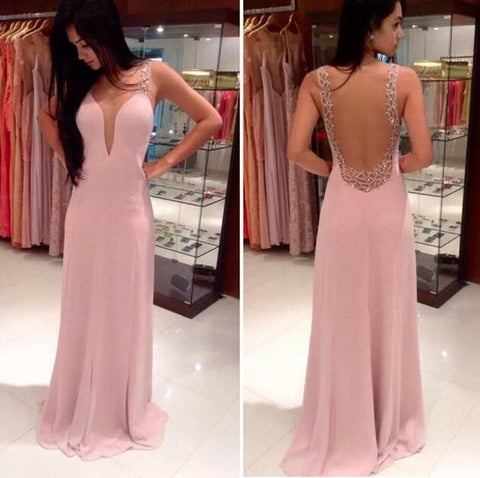 2016 evening dress with beadings L009