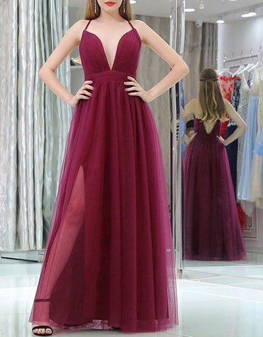 Fashion A-line Long Prom Dress , Long Winter Formal Dress LP006