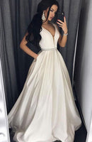 A-line Long Prom Dress Fashion Winter Formal Dress Popular Wedding Party Dress  LP314