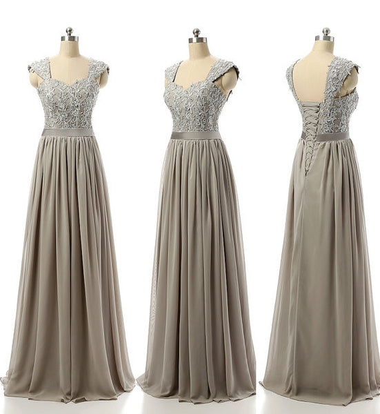 Chiffon Prom dress With Cap Sleeves