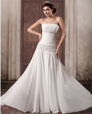 Chiffon Floor Length Wedding Dress